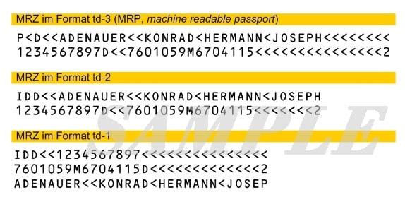 Ocr Barcode Reader Handheld Mrz Reader Rt302
